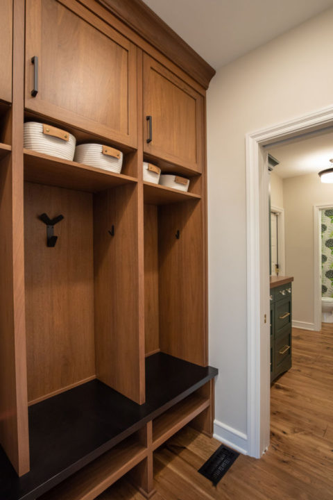 entertainers space, transitional living spaces, mudroom, lockers, medium wood hardwoods