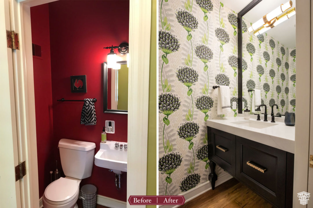powder bath before to after