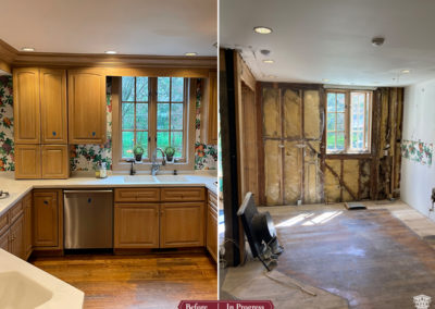 In Progress: Kitchen and Dining Areas get Traditional yet Eclectic Transformation