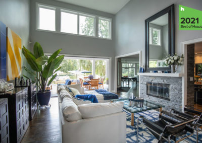 Modern Technology Enhances Indoor – Outdoor Living Remodel – Family Spaces