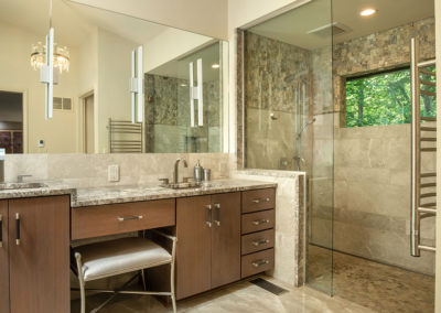 Dated 70's Master Bath Gets Contemporary Makeover