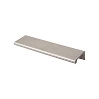 sleek metal pulls, cabinet hardware